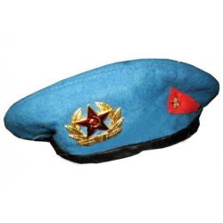 Берет сувенирный голубой два знака