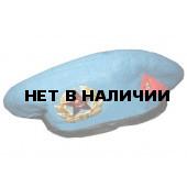 Берет сувенирный голубой один знак