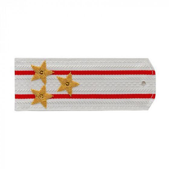 Погоны ВВ Полковник белые вышитые золото