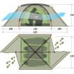 Универсальная мультисезонная армейская палатка Tengu Mark 10T камуфляж
