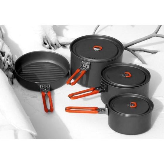Набор портативной посуды FEAST 5 из алюминия на 4-5 персон FEAST