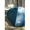 Комфортабельная четырехместная кемпинговая палатка Alexika Grand Tower 4 зеленый