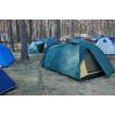 Универсальная трехместная туристическая палатка с двумя входами и двумя тамбурами Alexika Rondo 3 зеленый