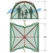 Большой шатер-палатка для столовой или кухни Alexika Summer House зеленый