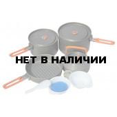 Набор портативной посуды FEAST 4 из алюминия на 4-5 персон FEAST