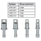 Алюминиевые наконечники под люверсы для алюминиевых дуг Lock Tips ALU 9.5 9551.0911