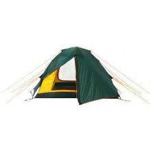 Универсальная двухместная туристическая палатка с двумя входами и двумя тамбурами Alexika Rondo 2 зеленый