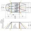 Трехместная палатка-полубочка класса Премиум Orbit 3