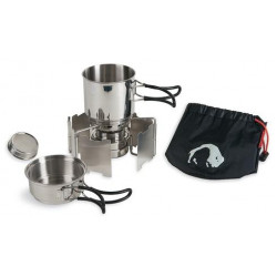 Компактный набор посуды с горелкой Alcohol Burner Set, 4133