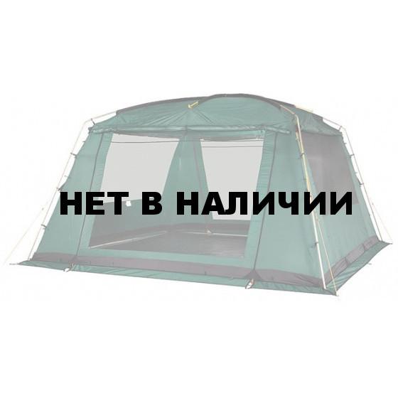 Люксовая модификация каркасного тента для размещения столовой или кухни Alexika China House Luxe зеленый