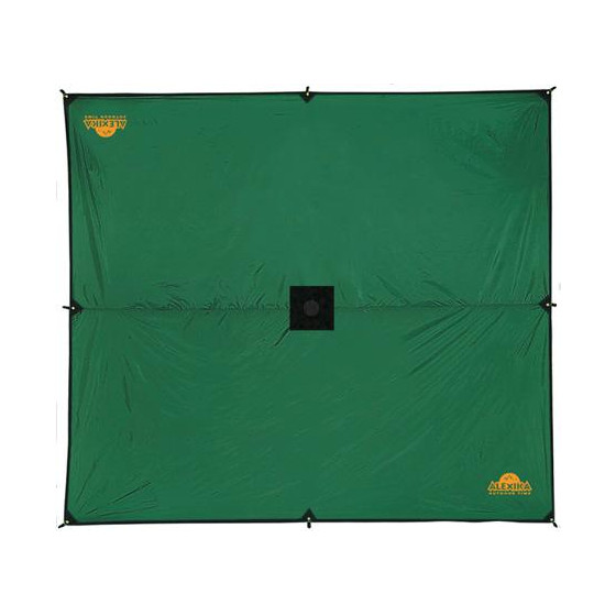 Универсальный тент защищает вас от дождя и солнца Alexika Tarp 4x3.2 зеленый