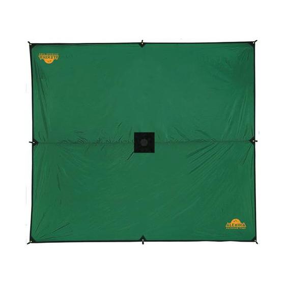 Универсальный тент защищает вас от дождя и солнца Alexika Tarp 5x6 зеленый