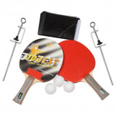 Набор для настольного тенниса Dobest BR33 0 звезд (2 ракетки + 3 мяча + сетка + крепеж)