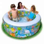 Бассейн надувной детский Intex 58480NP с надувным полом 152х56 см