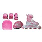 Набор: коньки роликовые, защита, шлем PW-999