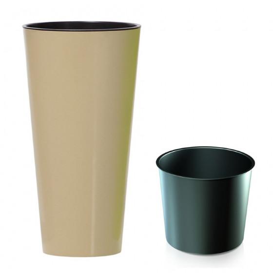 Кашпо для цветов Tubus Slim shine DTUS400S-7502U (35/64 л)