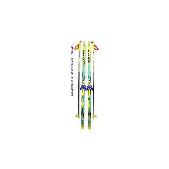 Беговые лыжи STC (лыжи, крепления 75мм, палки) 195 см