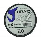 Леска плетеная Daiwa J-Braid X4 135м 0,07мм зеленая