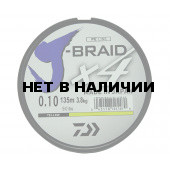 Леска плетеная Daiwa J-Braid X4 135м 0,10мм желтая