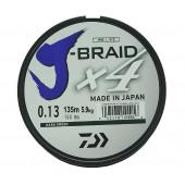 Леска плетеная Daiwa J-Braid X4 135м 0,13мм зеленая