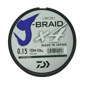 Леска плетеная Daiwa J-Braid X4 135м 0,15мм зеленая