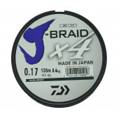 Леска плетеная Daiwa J-Braid X4 135м 0,17мм зеленая