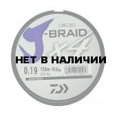 Леска плетеная Daiwa J-Braid X4 135м 0,19мм зеленая