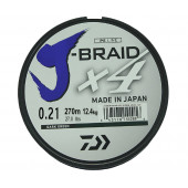 Леска плетеная Daiwa J-Braid X4 270м 0,21мм зеленая