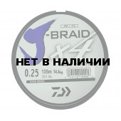 Леска плетеная Daiwa J-Braid X4 135м 0,25мм зеленая