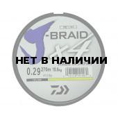 Леска плетеная Daiwa J-Braid X4 270м 0,29мм желтая
