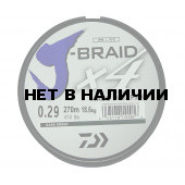 Леска плетеная Daiwa J-Braid X4 270м 0,29мм зеленая