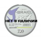 Леска плетеная Daiwa J-Braid X4 135м 0,33мм желтая