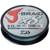 Леска плетеная Daiwa J-Braid X8 150м 0,13мм мультиколор