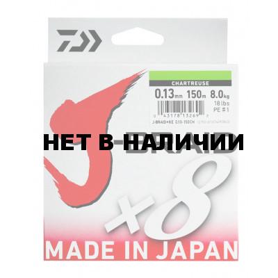 Леска плетеная Daiwa J-Braid X8 300м 0,22мм мультиколор