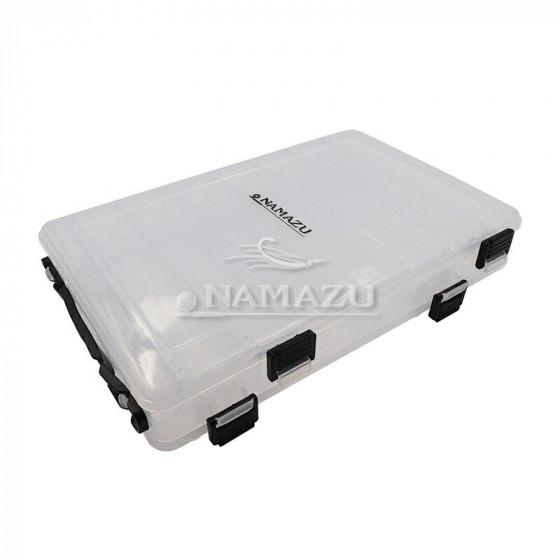 Коробка Namazu для воблеров двухсторонняя 14 отделений 27х19х5 см N-BOX26