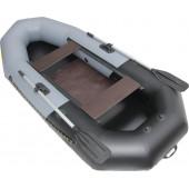 Надувная лодка Лидер Компакт-265 (серая/черная)