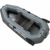 Надувная лодка Лидер Компакт-300 с транцем (серая)