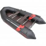 Надувная лодка Лидер Тайга Nova-320 Киль (темно-серая/черная/красная)