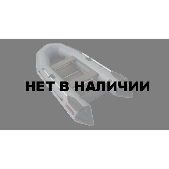 Надувная лодка Лидер Тайга-270 Киль (серая)