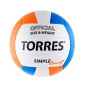 Мяч волейбольный Torres Simple Orange V30125 р.5