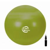 Мяч гимнастический 1866LW (65см, антивзрыв, с насосом)
