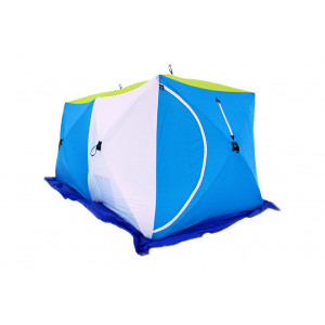 Палатка для зимней рыбалки Стэк Куб-2 трехслойная Дубль