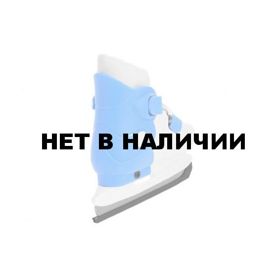 Коньки ледовые раздвижные PW-219-2 голубой/белый (р.29-32)