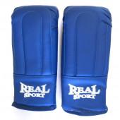 Перчатки тренировочные Realsport синий (L)
