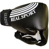 Перчатки боксерские Leader 8 унций, черный
