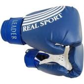 Перчатки боксерские Leader 8 унций, синий