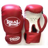 Перчатки для кикбоксинга Realsport 12 унций RS112