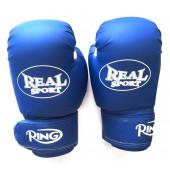 Перчатки для кикбоксинга Realsport 8 унций RS208