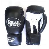 Перчатки для кикбоксинга Realsport 12 унций RS312