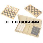 Шашки с шахматной доской 30*30см ES-0292